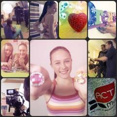 Fotky z natáčení reklamy Briliantina 2. série